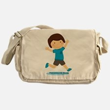 Personalized Gift for Kids Happy Boy Messenger Bag