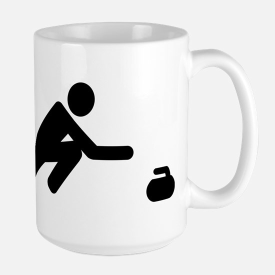 Curling player Large Mug