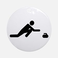 Curling player Round Ornament