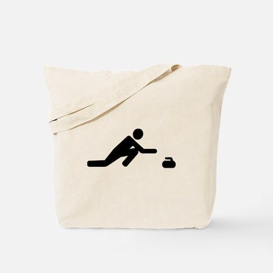 Curling player Tote Bag