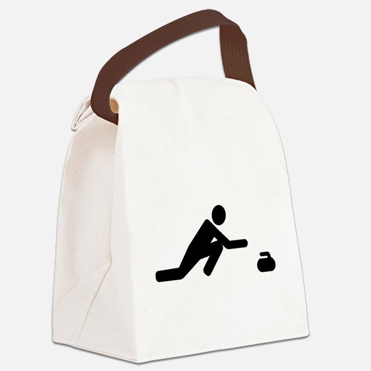 Curling player Canvas Lunch Bag