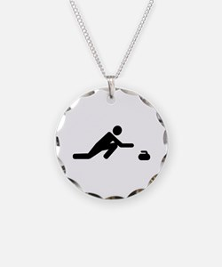 Curling player Necklace