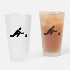 Curling player Drinking Glass