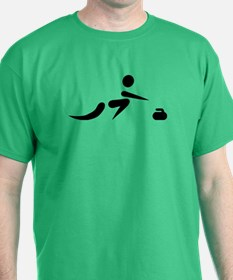 Curling player icon T-Shirt