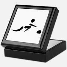 Curling player icon Keepsake Box