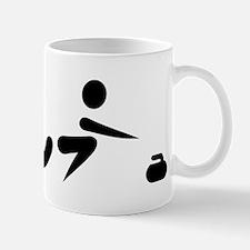 Curling player icon Mug