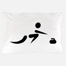 Curling player icon Pillow Case