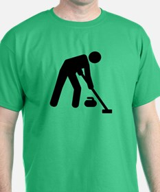 Curling sports player T-Shirt
