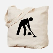 Curling sports player Tote Bag