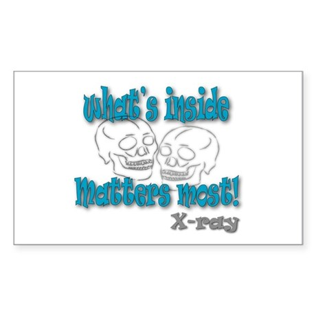 """X-Ray """"What's Inside"""" Rectangle Sticker"""
