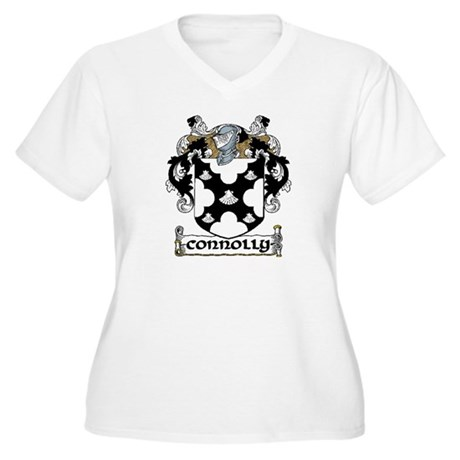 Connolly Coat of Arms Women's Plus Size V-Neck T-S