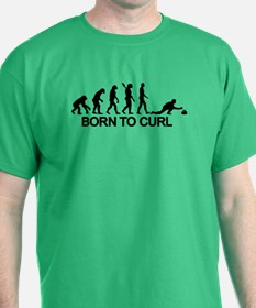 Evolution born to curling T-Shirt