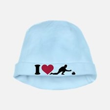I love Curling player baby hat