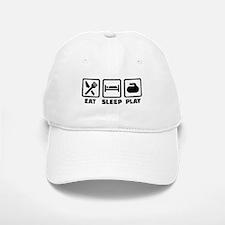 Eat Sleep Play Curling Baseball Baseball Cap