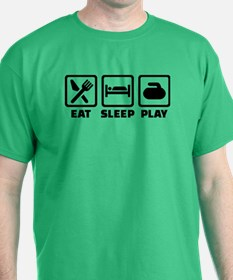 Eat Sleep Play Curling T-Shirt