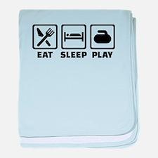 Eat Sleep Play Curling baby blanket
