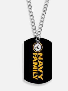 U.S. Navy: Proud Family (Black) Dog Tags