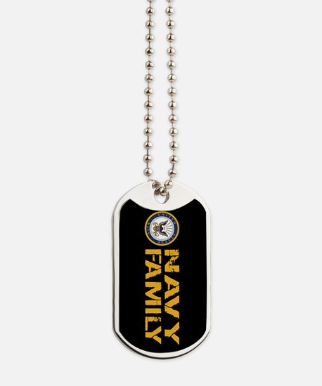 U.S. Navy: Proud Family (Black) Dog Tags
