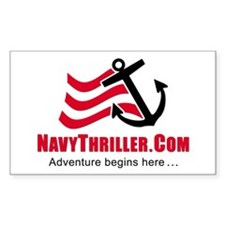 Navy Thriller Rectangle Decal