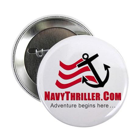 """Navy Thriller 2.25"""" Button"""