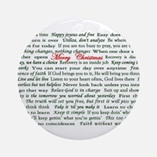 Merry Christmas Slogan Card Ornament (Round)