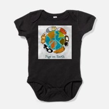 Unique Peace and anti war Baby Bodysuit