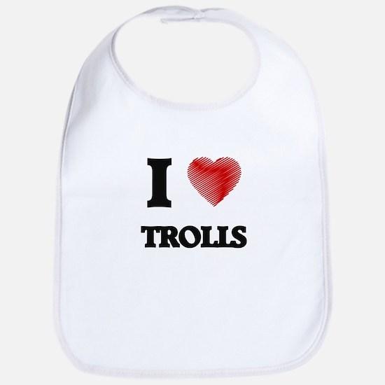 I love Trolls Bib