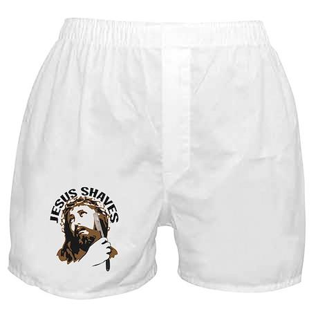 Jesus Shaves BrnBlk Boxer Shorts