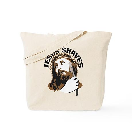 Jesus Shaves BrnBlk Tote Bag