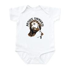 Jesus Shaves BrnBlk Infant Bodysuit