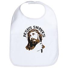Jesus Shaves BrnBlk Bib
