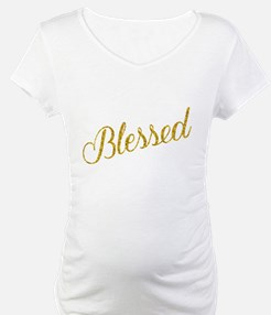 Blessed Gold Faux Foil Metallic Shirt