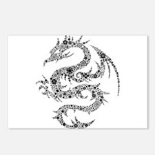 Dragon clip art Postcards (Package of 8)