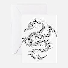 Dragon clip art Greeting Cards