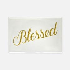 Blessed Gold Faux Foil Metallic Glitter Qu Magnets