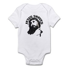 Jesus Shaves BkBk Infant Bodysuit