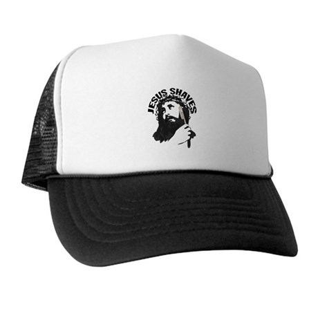 Jesus Shaves BkBk Trucker Hat