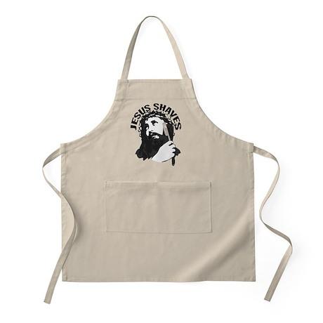 Jesus Shaves BkBk BBQ Apron