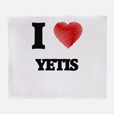 I love Yetis Throw Blanket
