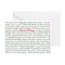 Seasons Greetings Slogan Holiday Greeting Card