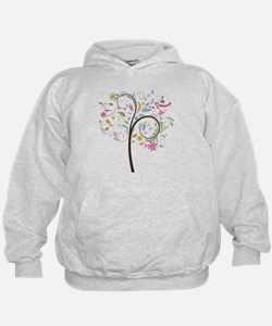 Abstract swirl floral tree graphic Hoodie