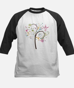 Abstract swirl floral tree graphic Baseball Jersey