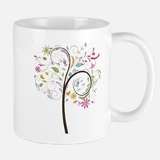 Abstract swirl floral tree graphic Mugs