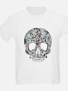 Trend pattern tropical skull design T-Shirt