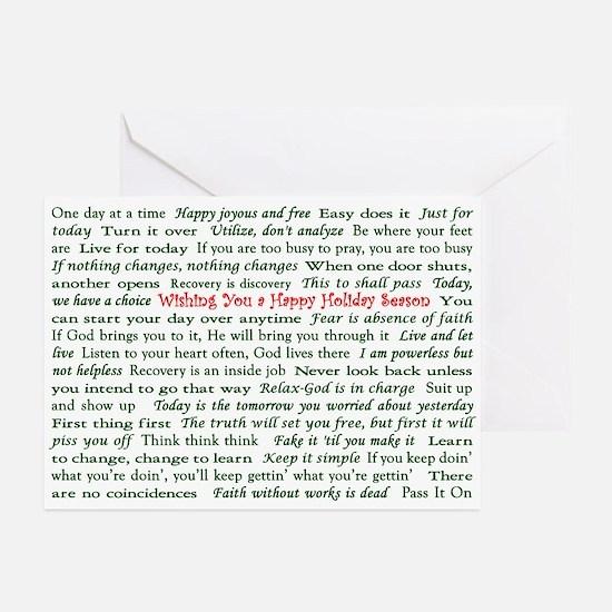 Happy Holiday's Recovery Slogans Card (20pk)