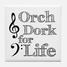 Orch Dork for Life Tile Coaster