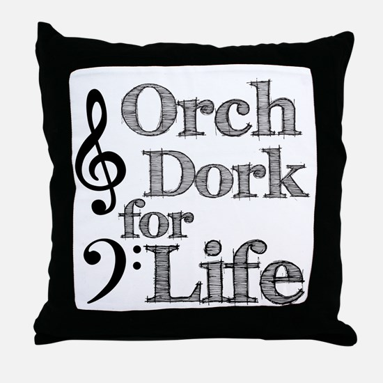 Orch Dork for Life Throw Pillow