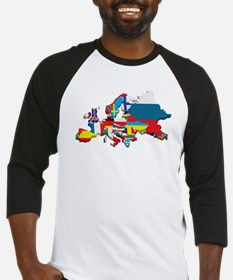 Flags map of Europe Baseball Jersey