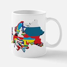 Flags map of Europe Mugs