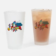 Flags map of Europe Drinking Glass